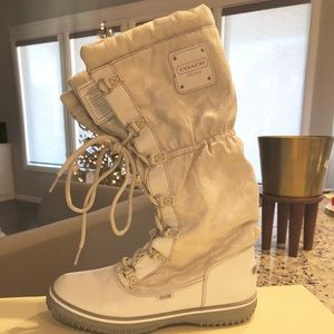 Coach White Snow Boots